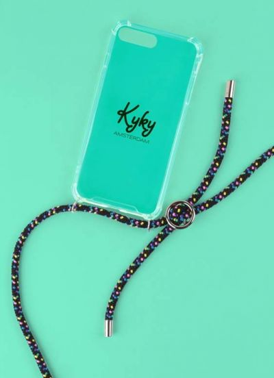 Kyky Iphone X/XS Cover Black Multi SILVER