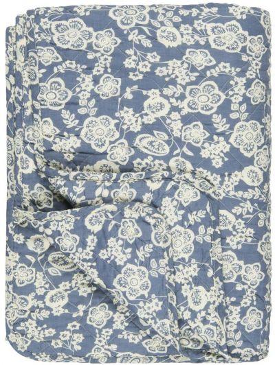 Ib Laursen Quilt Blå Blomster