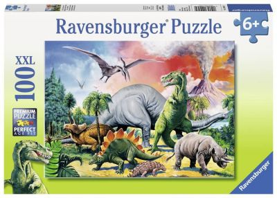 Ravensburger Puzzle 100 Brk Among the dinosaur