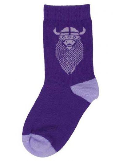Kids Socks Purple Blue FREJA