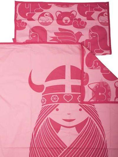 Bed Linen Junior Roof Top/ blush pink FREJA
