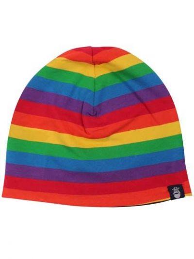 Jersey Beanie Rainbow stripe / Dark Navy