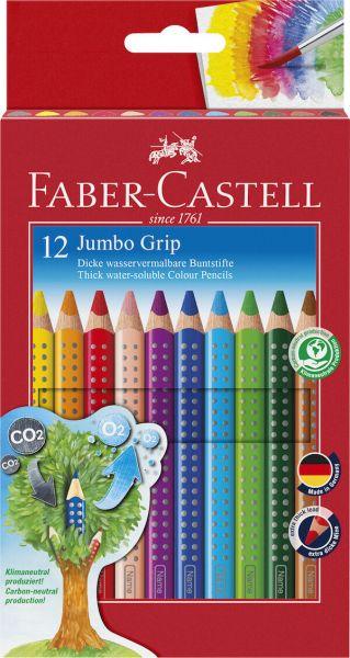 Faber Castell Jumbo Grip Farveblyanter 12 Assorteret