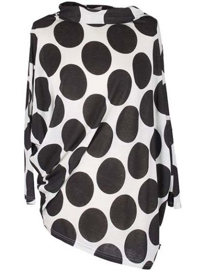 Verdura Top Chalk/Black DOTS