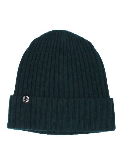 ESS - Cashmere Rib Beanie Black green