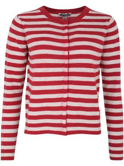 Judy Cardigan Red/Offwhite