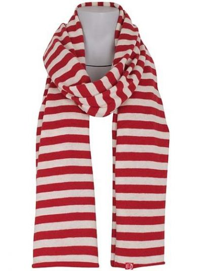 Fefor Scarf Red/Offwhite