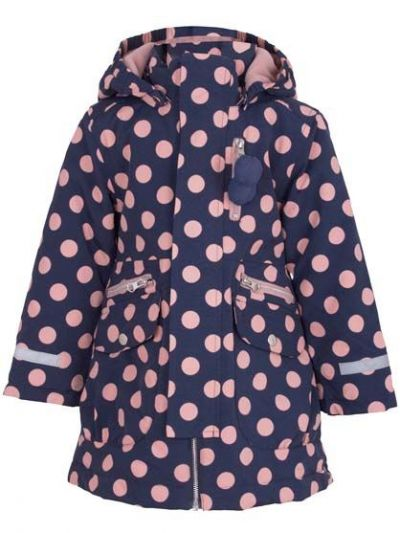 Kirstine Winter Jacket Dark Night/Dry Rose DOTS
