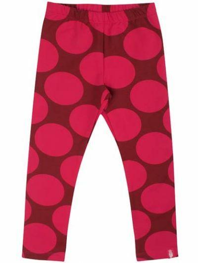 Andrea leggings Rust Red/Love Pink MEGA DOTS