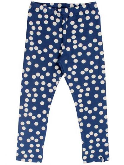 Andrea leggings Cold Slate/Chalk BIG FUNNY DOTS