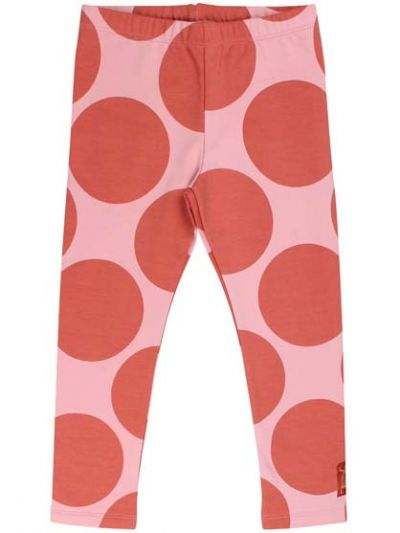 Andrea leggings Delicate Pink/Dark Peach MEGA DOTS