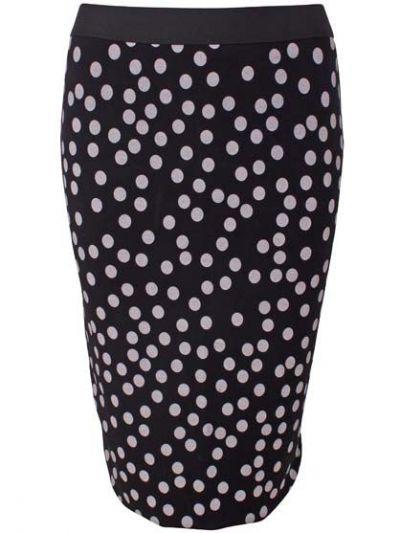 Betsy Skirt Black/Off White Big Fun Dots