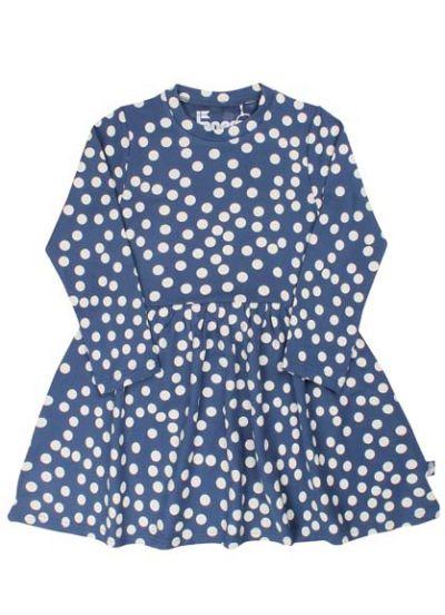 Merete Dress Cold Slate/Chalk BIG FUNNY DOTS