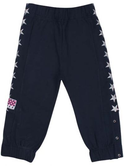 Team Pants Navy/Silver Glitter Stars