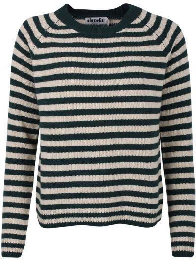 Hytte Sweater Black green/off white