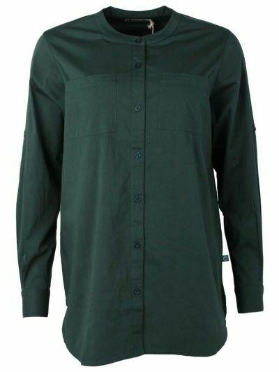 ESS - Joy Poplin Shirt Black green