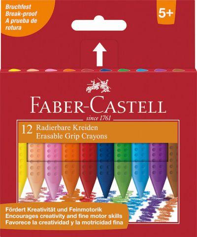 Faber Castell Grip Plast Kridt 12 Assorteret