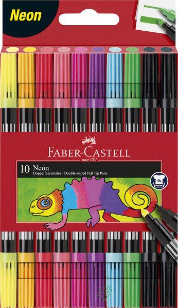 Faber Castell Dobbelt Tusser 10 Stk Neon
