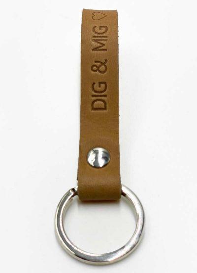 Danefæ Nøglering DIG & MIG Natur/Sølv