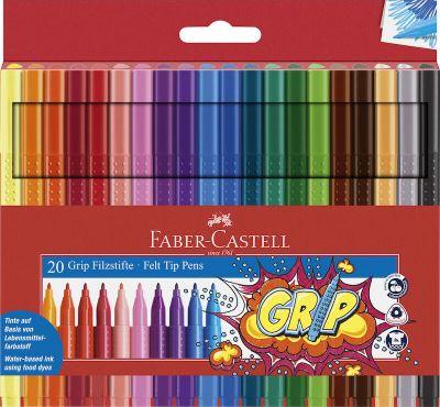 Faber Castell Tusser Grip 20 Stk Assorteret
