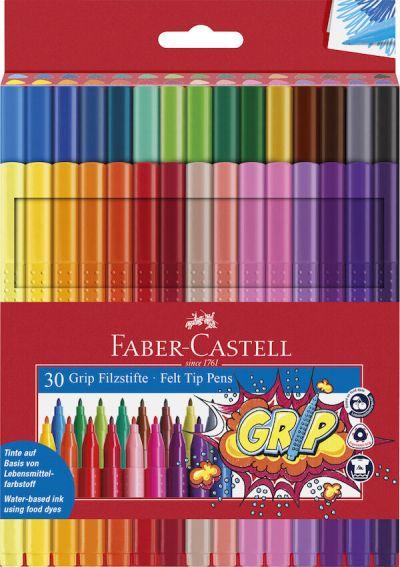 Faber Castell Tusser Grip 30 Stk Assorteret