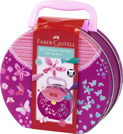 Faber Castell Tusser Connector Håndtaske  ASS. Colors 33 Stk