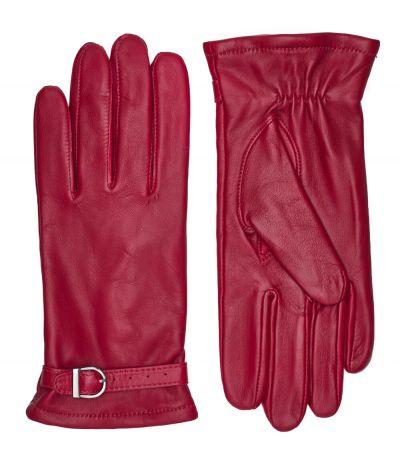 Rhanders Lamb Fleece Spænde Handsker Cardinal Red