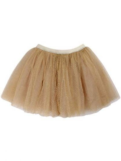 Sparkle Skirt Gold Glitter