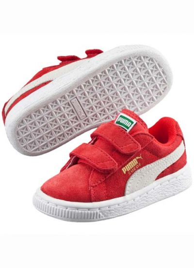 Puma Suede Baby Red/White