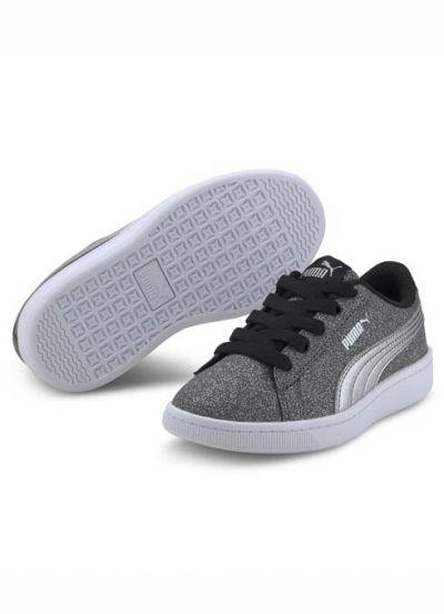 Puma Vikky Glitz Kids Black/Silver