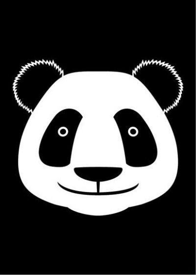 DYR Postcard Black PANDA