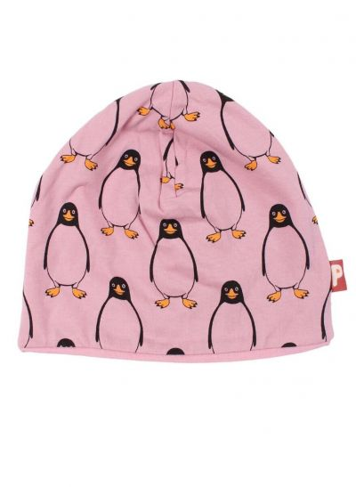 Loeve Beanie Old rose/Chilled Pink PINGUIN AOP