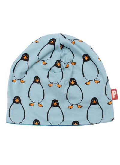 Loeve Beanie Dusty Blue/Rainblue PINGUIN AOP