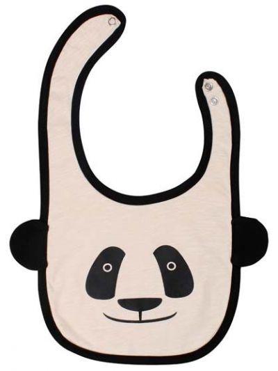 Baby Bib Black/Offwhite PANDA