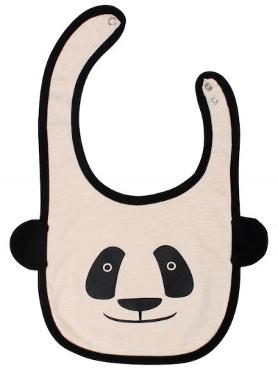 Baby Bib Black/Putty PANDA