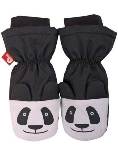 Paw 3D Mittens Black PANDA