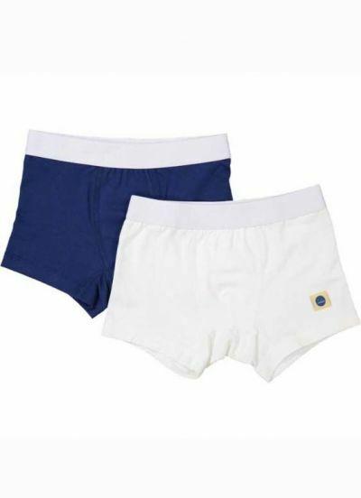 SNORK Eddie Boxers 2-Pack White/Navy