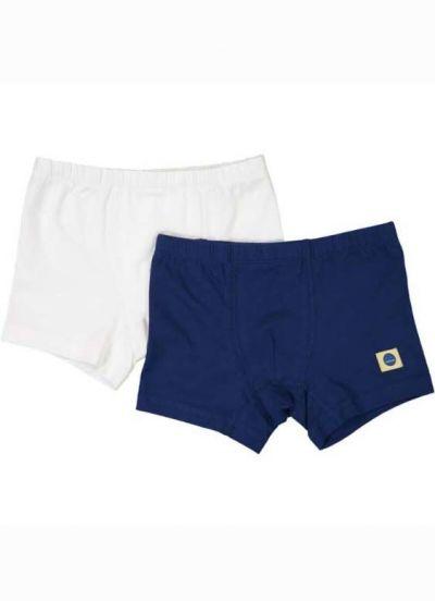 SNORK Roberto Boxers 2-Pack White/Navy