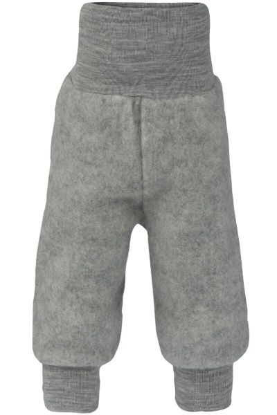 Engel Natur Baby Pants Long w.Waistband Lt Grey Melange