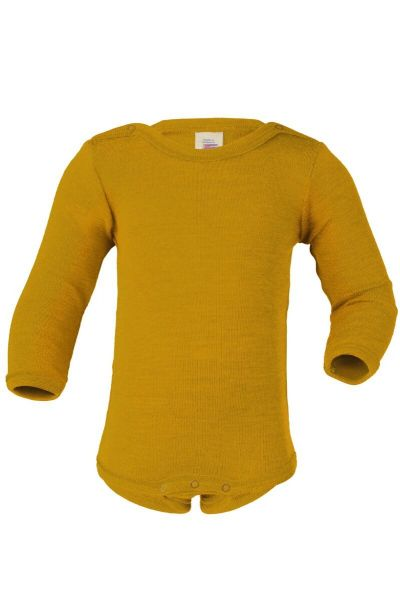 Engel Natur Baby Body LS w.Buttons GOTS Saffron