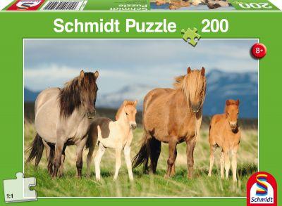 Schmidt Puzzle 200 Brk Family of horses