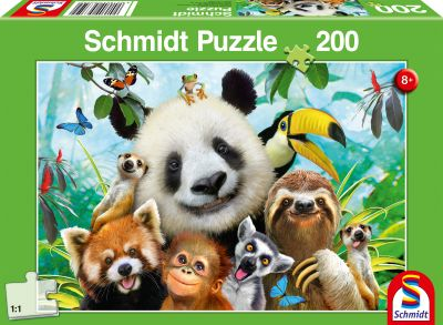 Schmidt Puzzle 200 Brk Animal Fun