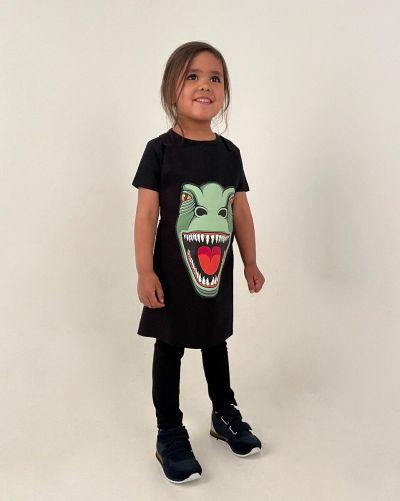 DYR Apron - Kids Black T-REX