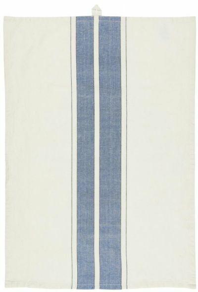 Ib Laursen Viskestykke Blue/Black Stripes