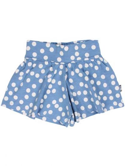ORGANIC - Oyster Shorts Waterblue/Chalk BIG FUNNY DOTS