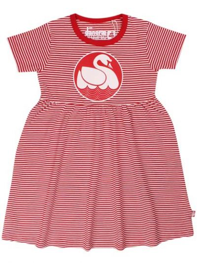 ORGANIC - Shellfish Dress Red/Chalk SWAN