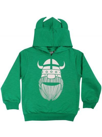 ORGANIC - Warrior Hoodie Green ERIK