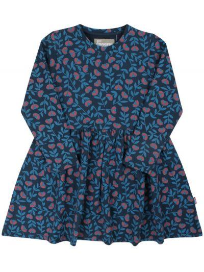 ORGANIC - Merete Dress Dusty blue FLEURIE