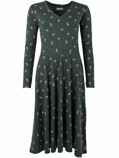 ORGANIC - Andreasen Dress Black green MINIFLOWER