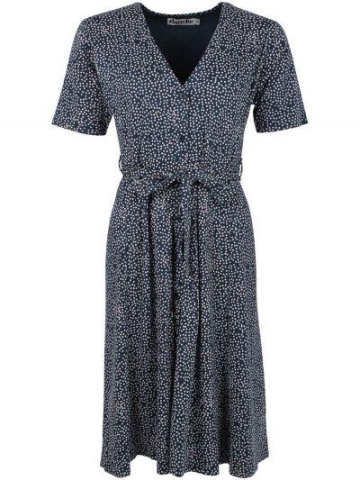 ORGANIC - Picky Dress Dusty navy/chalk MINI FUNDOTS